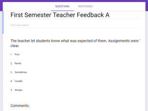 Teacher Feedback